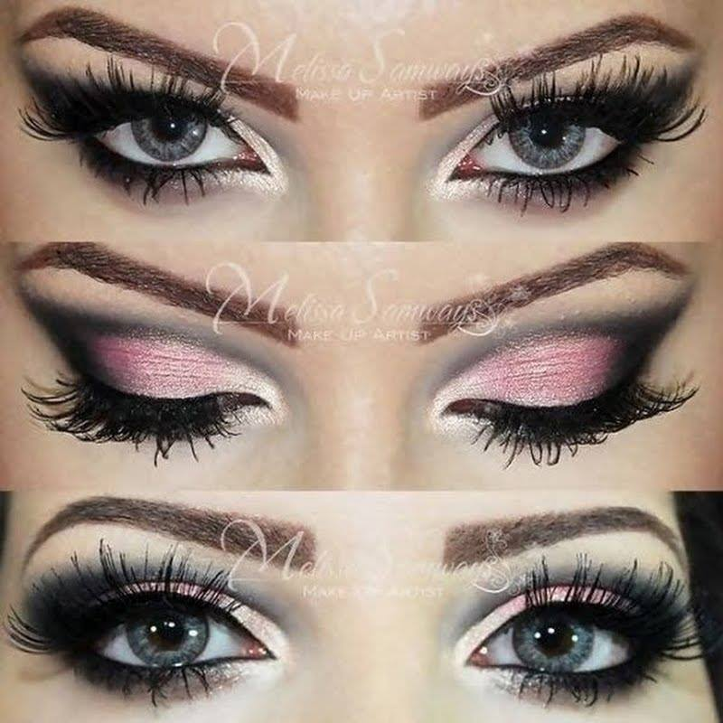 sexy pink and black makeup star crushed minerals